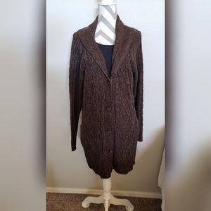 Faded Glory long cardigan chunky sweater